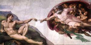 Gott bei der Erschaffung Adams