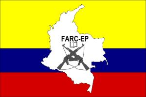 Die Flagge der FARC