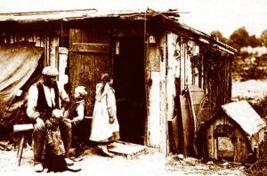 Eine arme Arbeiterfamilie in Hamburg, 1902