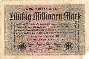 Die deutsche Hyperinflation von 1923
