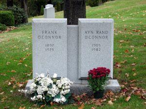 Der Grabstein von Ayn Rand