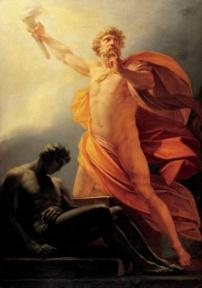 Prometheus bringt der Menschheit das Feuer
