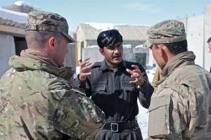 Ein afghanischer Übersetzer bei der Arbeit