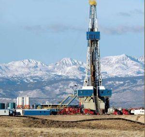 Bohrung nach Schiefergas, dem neuen Hoffnungsträger im Energiemarkt
