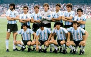 Die argentinische Weltmeisterauswahl von 1986