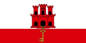 Die Flagge von Gibraltar