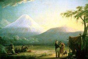 Humboldt und Bonpland am Fuß des Chimborazo
